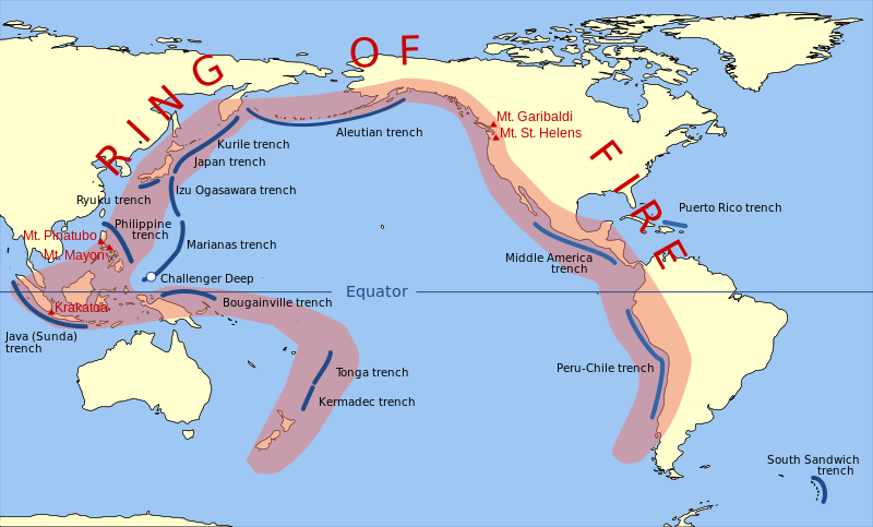 the causes and prevalence of earthquakes in the regions around ring of fire The ring of fire has caused a number of devastating earthquakes over the years and is where two of the earth's huge tectonic plates meet it's a string of 452 volcanoes and sites of high.